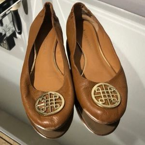 Women's Tan slip on flats